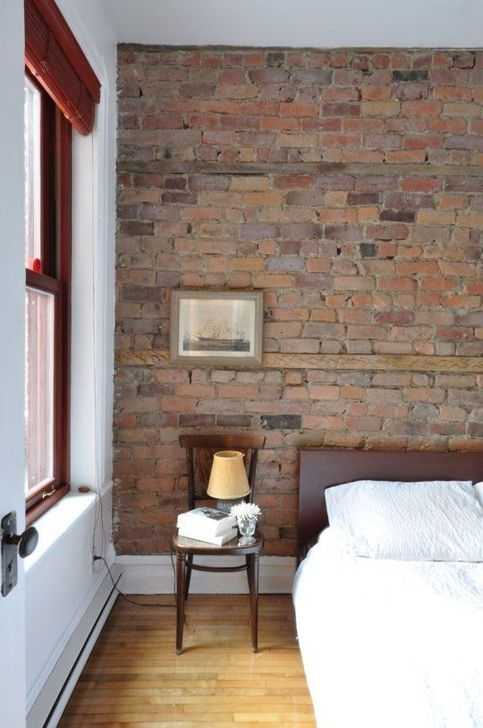 Adorable Exposed Brick Walls Bedrooms Design Ideas 01