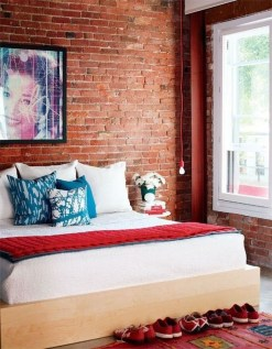 Adorable Exposed Brick Walls Bedrooms Design Ideas 02