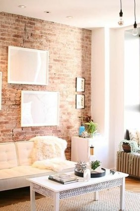 Adorable Exposed Brick Walls Bedrooms Design Ideas 24
