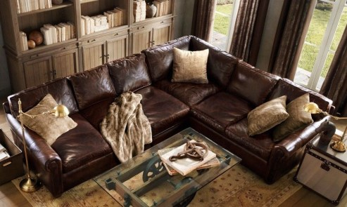 Beautiful Leather Couch Decorating Ideas For Living Room18