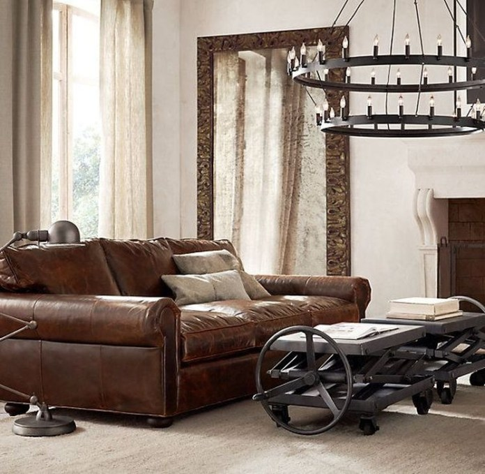 Beautiful Leather Couch Decorating Ideas For Living Room19