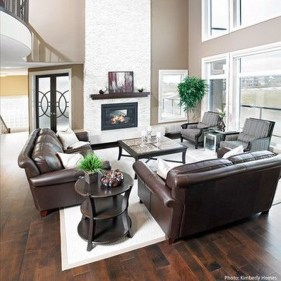 Beautiful Leather Couch Decorating Ideas For Living Room25