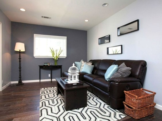 Beautiful Leather Couch Decorating Ideas For Living Room28