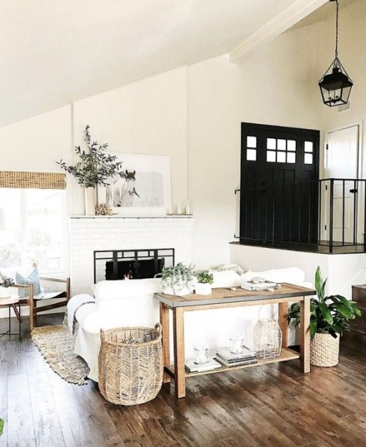 Cozy Modern Farmhouse Style Living Room Decor Ideas 49