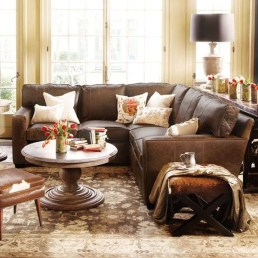 Fancy Leather Living Room Furniture Design Ideas 07