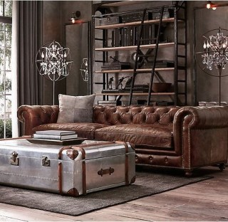 Fancy Leather Living Room Furniture Design Ideas 13