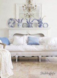 Gorgeous White And Blue Living Room Ideas For Modern Home 39