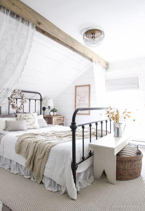 Stunning Farmhouse Style Modern Bedroom Decor Ideas 16