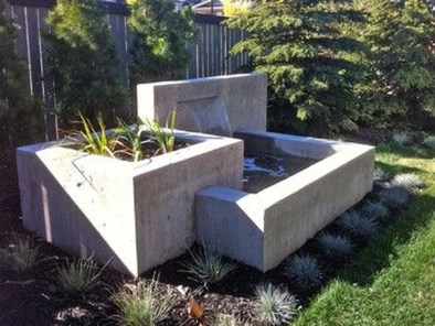 Amazing Modern Water Feature For Your Landscape15