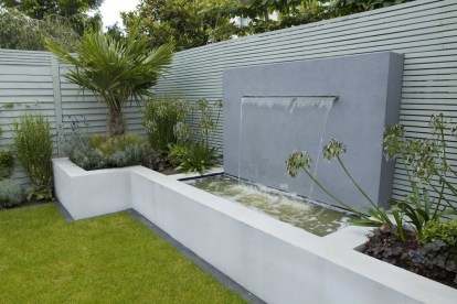Amazing Modern Water Feature For Your Landscape34
