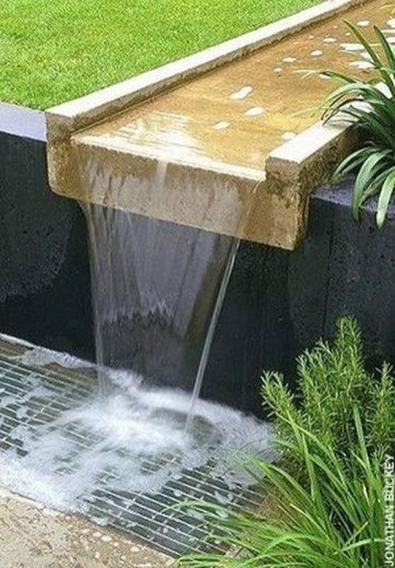 Amazing Modern Water Feature For Your Landscape44