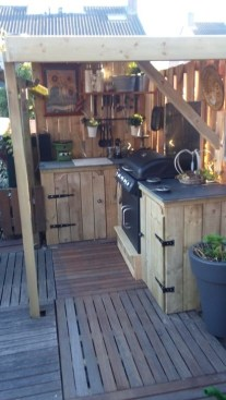 Awesome Outdoor Kitchen Design Ideas 24
