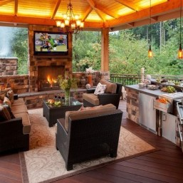 Awesome Outdoor Kitchen Design Ideas 43