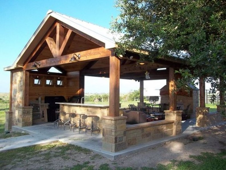 Awesome Outdoor Kitchen Design Ideas 46