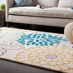 Romantic Floral Printed Rug Ideas To Beautify Your Floor01