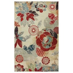 Romantic Floral Printed Rug Ideas To Beautify Your Floor14