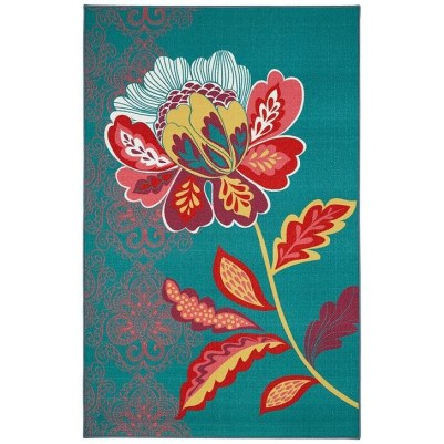 Romantic Floral Printed Rug Ideas To Beautify Your Floor21