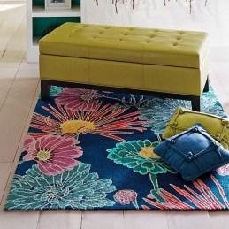 Romantic Floral Printed Rug Ideas To Beautify Your Floor25