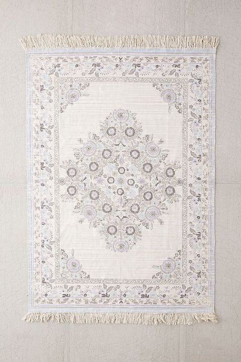 Romantic Floral Printed Rug Ideas To Beautify Your Floor29