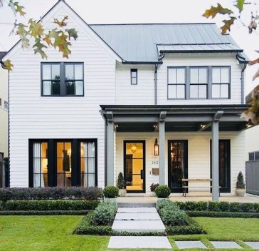 Brilliant Modern Farmhouse Exterior Design Ideas19