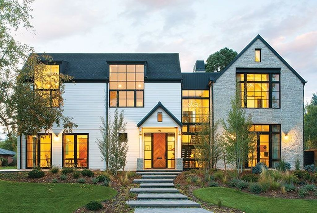 Brilliant Modern Farmhouse Exterior Design Ideas35