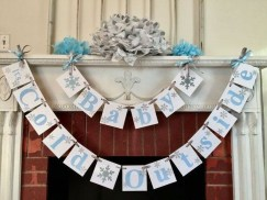 Charming Winter Themed Baby Shower Decoration Ideas35
