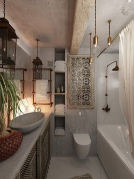 Cozy Bathroom Design And Decor Ideas41