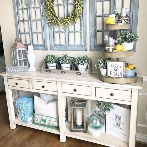 Creative Farmhouse Entryway Decorating Ideas46