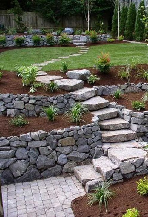 Pretty Front Yard Rock Garden And Landscaping Ideas44