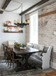 Romantic Rustic Farmhouse Dining Room Makeover Ideas01