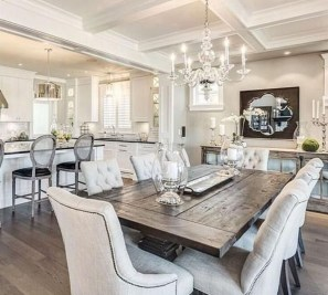 Romantic Rustic Farmhouse Dining Room Makeover Ideas03