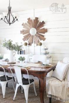 Romantic Rustic Farmhouse Dining Room Makeover Ideas12