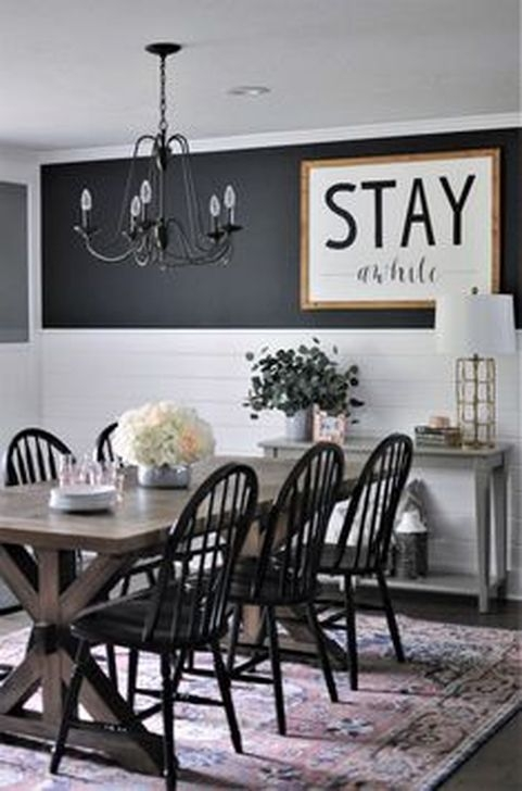 Romantic Rustic Farmhouse Dining Room Makeover Ideas24