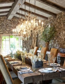 Romantic Rustic Farmhouse Dining Room Makeover Ideas28