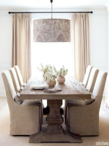 Romantic Rustic Farmhouse Dining Room Makeover Ideas29