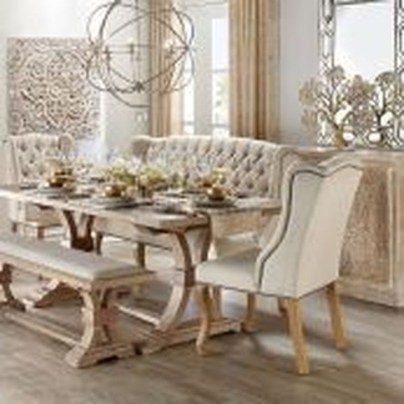 Romantic Rustic Farmhouse Dining Room Makeover Ideas37