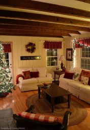 Comfy Christmas Living Room Decor Ideas10