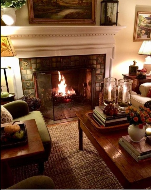 Comfy Christmas Living Room Decor Ideas46