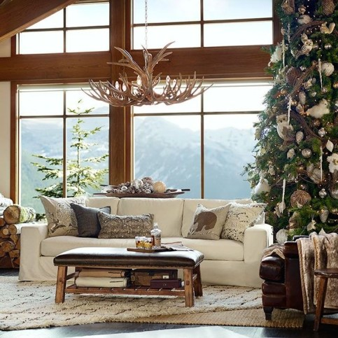 Comfy Christmas Living Room Decoration Ideas27
