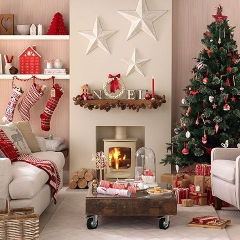 Comfy Christmas Living Room Decoration Ideas28