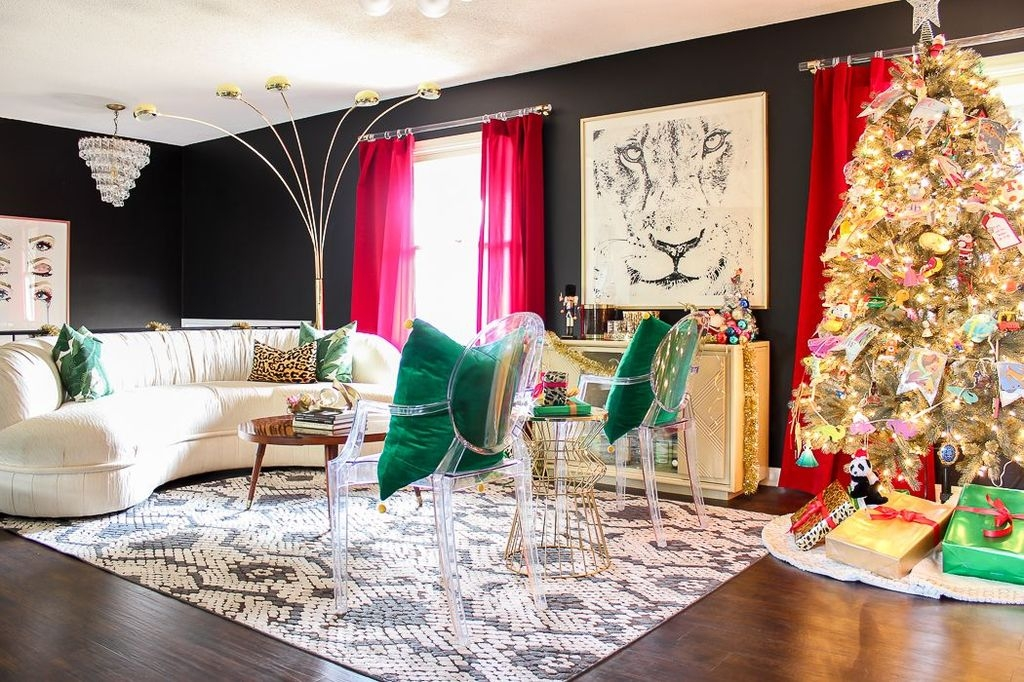 Comfy Christmas Living Room Decoration Ideas41