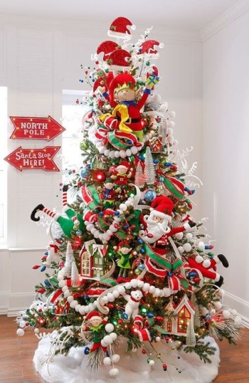 Gorgeous Rustic Christmas Tree Decoration Ideas36