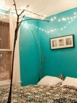 Magnificient Christmas Lighting Bedroom Ideas26
