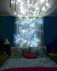 Magnificient Christmas Lighting Bedroom Ideas36