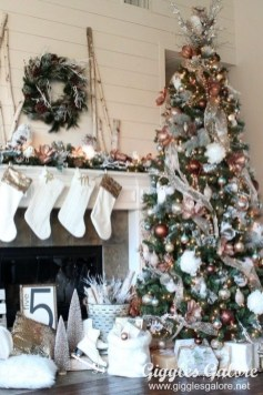 Modern Farmhouse Christmas Tree Ideas26