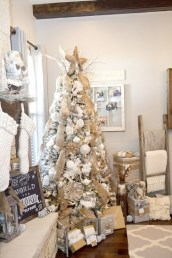 Modern Farmhouse Christmas Tree Ideas37