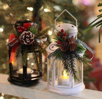 Romantic Rustic Christmas Decoration Ideas04
