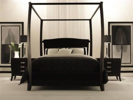 Stunning White Black Bedroom Decoration Ideas For Romantic Couples27