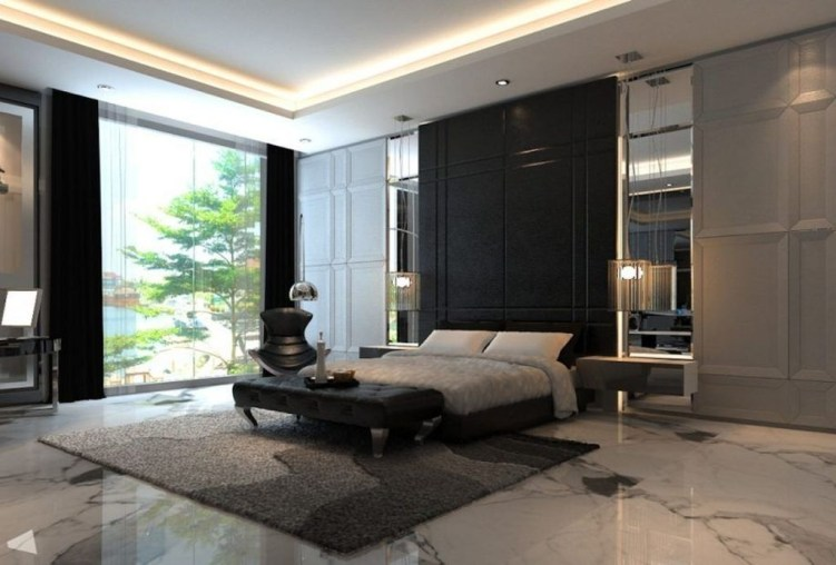Stunning White Black Bedroom Decoration Ideas For Romantic Couples36