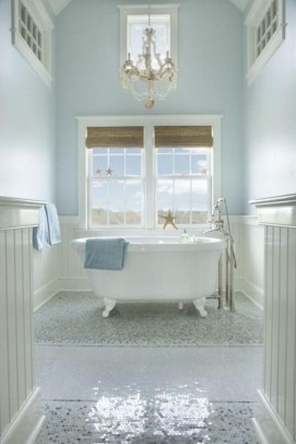 Cozy Coastal Style Nautical Bathroom Designs Ideas16